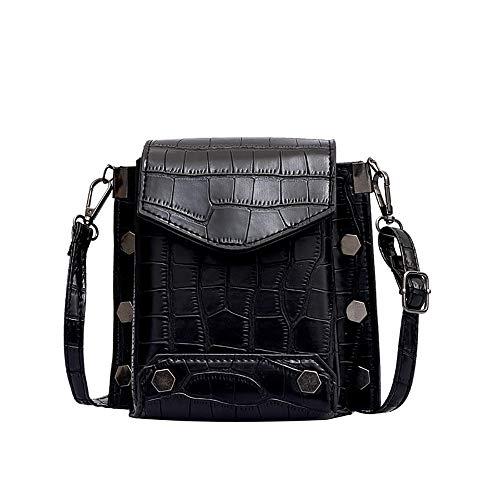 Shoulder Bag for Women Fashion Stone Pattern Mini Square Tide Messenger Bag,Rakkiss