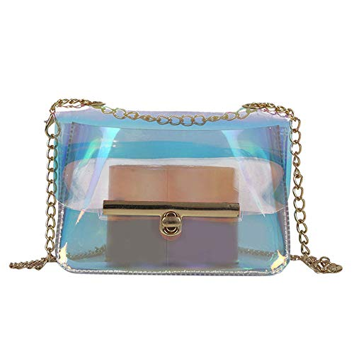Crossbody Bags, Dream Room Women Light Weight Medium Chain Shoulder Bag Clear Messenger Jelly Handbags
