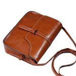 Wobuoke Vintage Elegant Purse Bag PU Leather Cross Body Shoulder Messenger Bag Multi-Color Clearance