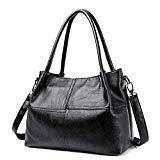 Women Bags Ladies Hand Bag Women'S Genuine Leather Handbag Black Leather Tote Bags Female Shoulder Bag