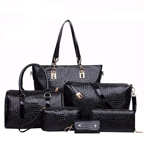 Crocodile Leather Composite Bag Handbag Shoulder Messenger Bag Clutch Purse Tote