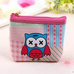 Coin Purse Cute Handbag Cartoon Short PU Leather Purse Owl Pattern Wallet (size - 5)