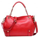 Heshe Womens Leather Top Handle Bags Tote Handbags Shoulder Bag Satchel Cross Body Handbag (Jester Red)