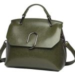 Women handbag Vintage Soft Genuine Leather Shoulder Bag (Green)