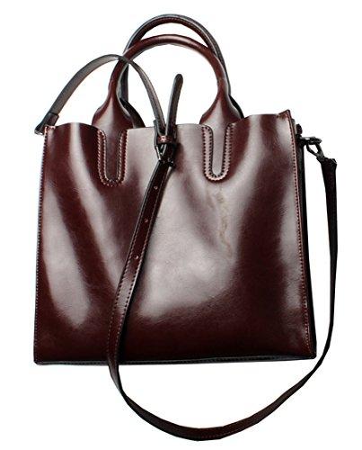 Heshe Women Leather Tote Designer Handbags Ladies Purse Tote Bag Top Handle Bags Shoulder Handbag Cross Body Bag Satchel Purses (Wine)