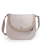 Eric Javits Luxury Fashion Designer Women's Handbag - Squishee Demi Pouch - Ice