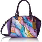 Anuschka Handpainted Leather Mini Convertible Satchel,Cosmic Quest