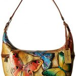 Anuschka Hand Painted East West Medium Hobo Earth Song, Est