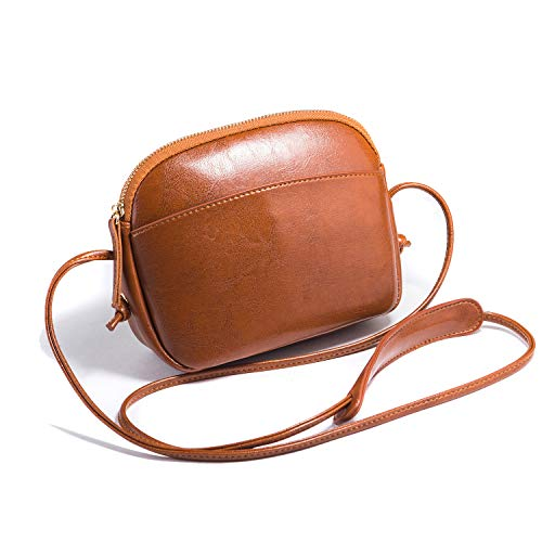 Heshe Women Faux PU Leather Handbags Shoulder Bag Ladies Designer Purses Small Bags Satchel Crossbody Bag (Brown)