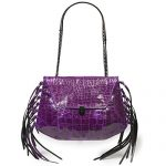 Eric Javits Luxury Fashion Designer Women's Handbag - Lindsay - Violet