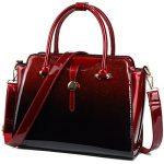 Womens Patent Leather Satchel Handbags (Red)