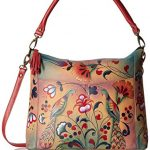 Anna by Anuschka Women's Genuine Leather Convertible Shoulder Handbag | Hand Painted Original Artwork | Zip-Top Crossbody |Turkish Pottery