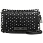 COACH Women's Ombre Rivets Coach Swagger Shoulder Bag DK/Black Handbag