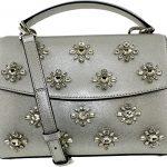 MICHAEL Michael Kors Women's Ava Jwl Sm Th Satchel Silver Handbag