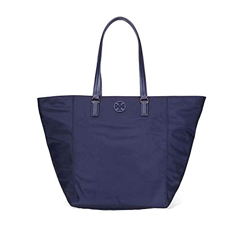 Tory Burch Women's Tilda Navy Blue Nylon Tote Handbag