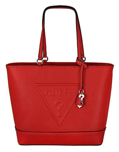 Guess Womens Baldwin Park Shoulder Tote Handbag - Red