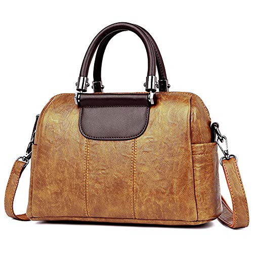 Top Handle Handbag for Women - Vegan Leather Ladies Shoulder Bag