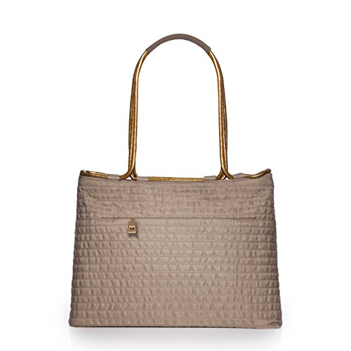 Eric Javits Luxury Fashion Designer Women's Handbag - Aline - Khaki