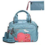 Crossbody Purse for Women, Nylon Lightweight Water-resistant Shoulder Bag, Sport Travel Beach Shopping Tote Bag With Wallet (Blue Elephant)
