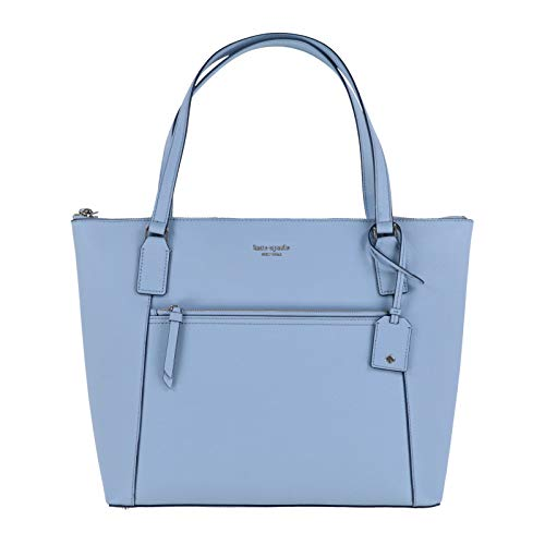 Kate Spade Cameron Saffiano Leather Pocket Tote Bag Purse Handbag for Work School Office Travel (Blue Dawn)