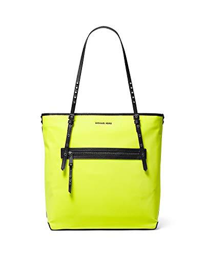 Michael Kors Leila Large Nylon Tote (Neon Yellow)