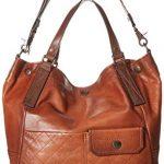 FRYE Samantha Quilted Leather Shoulder Handbag, cognac