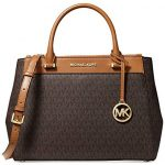 MICHAEL Michael Kors Gibson Signature Satchel Bag, Brown Acorn, Large
