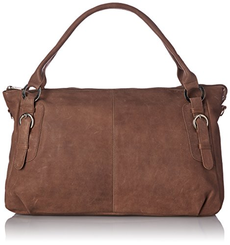 Piel Leather Large Handbag Cross Body Bag, Toffee, One Size