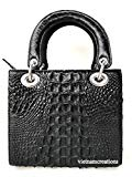 Genuine Crocodile Skin Leather Women Top Handle Handbags Satchel Shoulder Tote Crocodile Bag Handamde (12